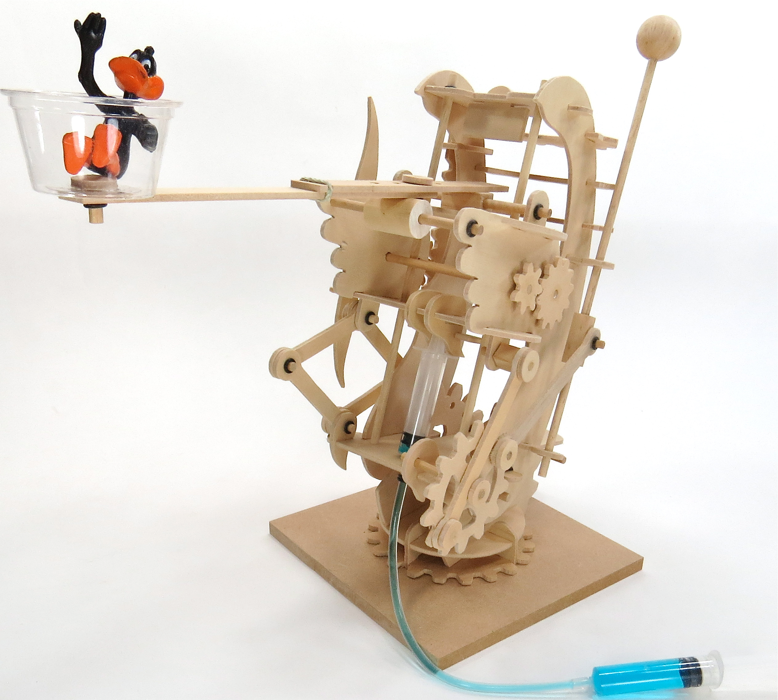 Simple Hydraulic Robotic Arm Designs : Hydraulic gearbot pathfinders